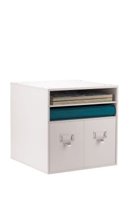 Combo cube with 2 drawers recollections storage for Recollections craft room storage amazon
