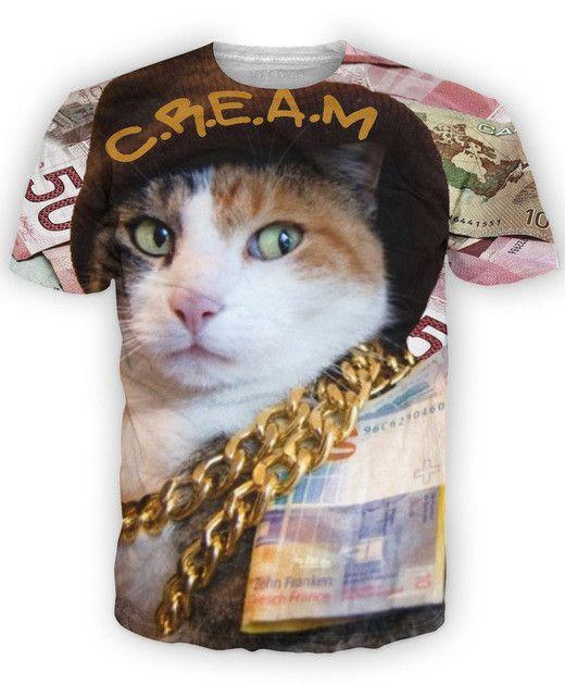 C.R.E.A.M T-Shirt http://www.jakkoutthebxx.com/products/wu-tang-clan-woman-t-shirts-cream-t-shirt-cash-addicted-kitty-3d-print-t-shrit-casual-short-sleeve-tops-animal-tee-for-women-men?utm_campaign=social_autopilot&utm_source=pin&utm_medium=pin #fashionmodel  #model #fashiontrends #whatstrending  #ontrend #styleblog  #fashionmagazine #shopping