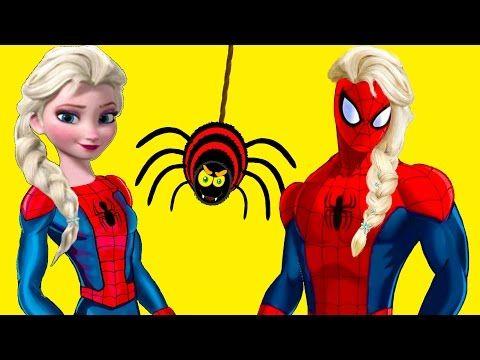 spiderman vs frozen elsa ile ilgili görsel sonucu