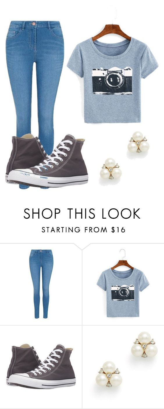 """Untitled #10"" by rnichole ❤ liked on Polyvore featuring George, Converse and Ben-Amun"