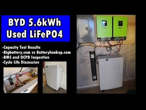 Used 5 6kwh Lifepo4 Solar Battery W Bms For 850 Bigbattery Com Youtube In 2020 Solar Battery Solar Power Diy Solar