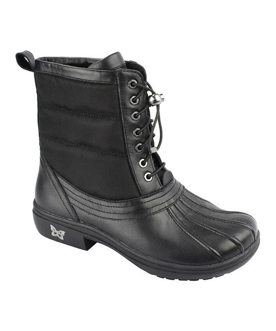 Look at this Alegria Black Nappa Stormy Duck Boot on #zulily today!