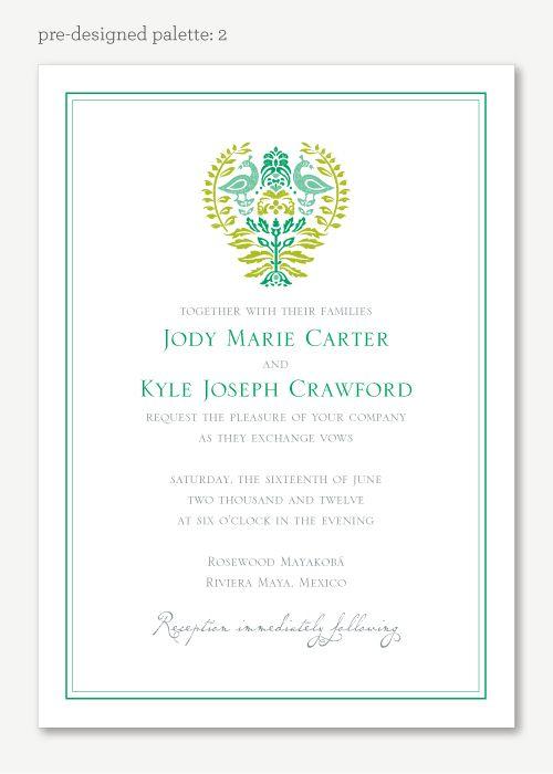 Arya Wedding Invitation - Vintage Wedding Invitation