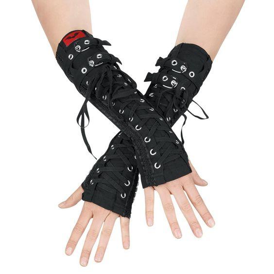 Lace Gloves - Tapa brazos por Queen Of Darkness - Número Artículo: 232753 - desde 27,99 € - EMP Mailorder España:::La venta por correo y on line Rock Metal Punk: Camisetas, CD, DVD, Pósters, ropa e merchandise oficial