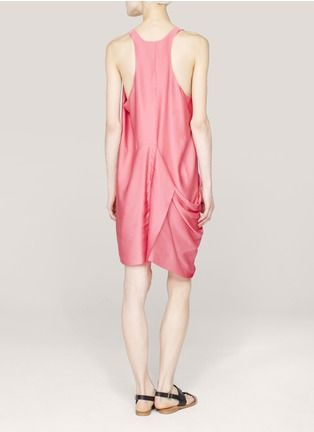 Acne - Draped satin dress | Pink Casual Dresses | Womenswear