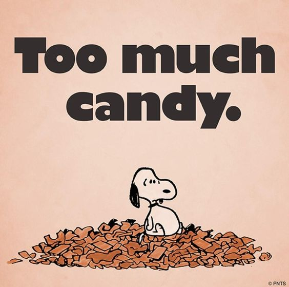 Image result for snoopy eating candy bars