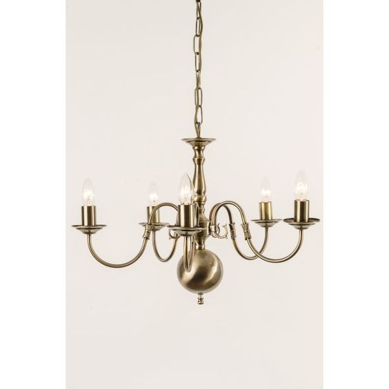 Flemish Chandelier 5 Light Antique Brass - Cotterell & Co online lighting…