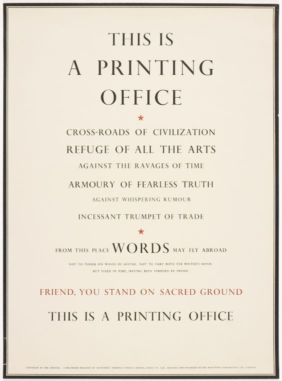 This is a Printing Office – Beatrice Ward, 1932