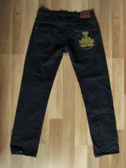 Vivienne Westwood Anglomania Mens Dark Blue Navy Jeans Size on Tag 34 Used by ForgottenTreasuresEU on Etsy