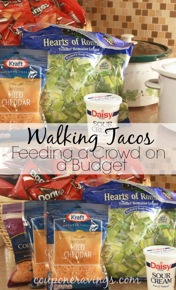 Food For A Crowd Walking Tacos And Easy Meals On Pinterest