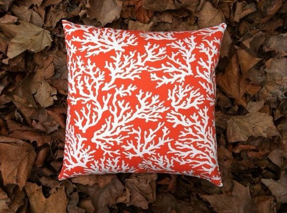 5 Sizes Available One Nautical Coral Garden by Pillomatic on Etsy