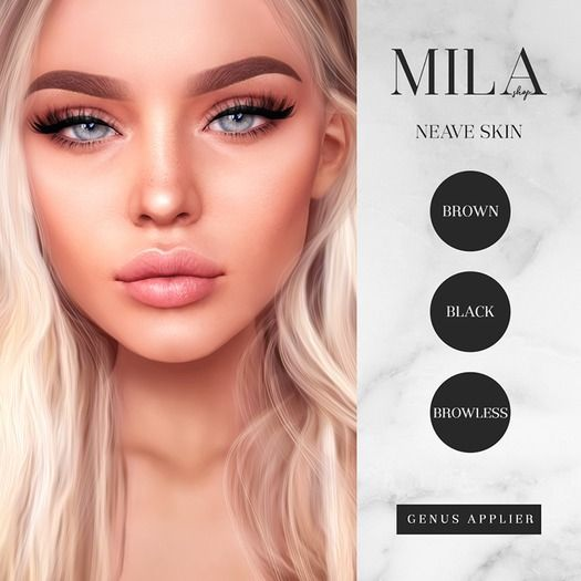 Second Life Marketplace Mila Neave Skin Fair Genus Face
