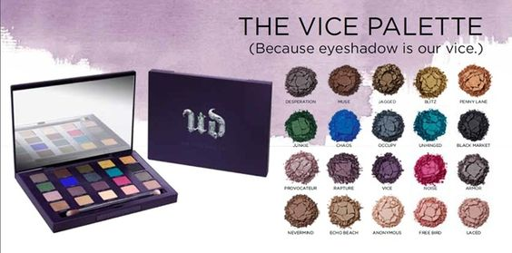 New Urban Decay Vice Palette with 20 new UD shades!