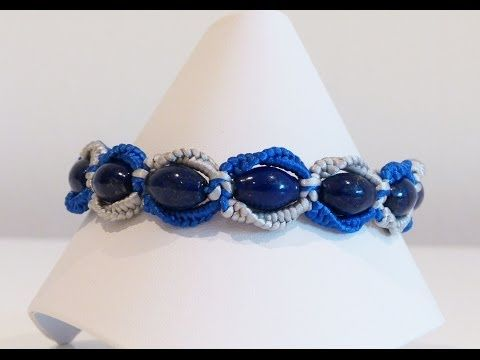 ▶ Circle macrame bracelet - YouTube