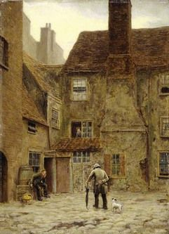 The Back Yard of the Queen's Head Inn, No. 105 Borough High Street, Southwark unknown artist 1883