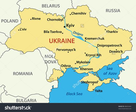 Ukraine Vector Map Geography Pinterest Ukraine - Kremenchuk map