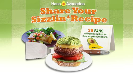 Share your sizzlin' summer recipe for a chance to win 1 of 75 avocado cutters   http://www.facebook.com/hassavocados/app_417185314980662