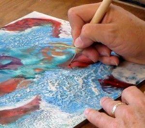 Online Class: Controlling Encaustic Paint & Adding Texture, at http://www.RobertsonWorkshops.com
