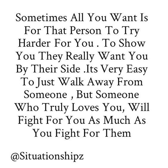 I just want you to fight for us as hard as i am. Not to fight for her friendship. But fight to keep your relationship...with me!