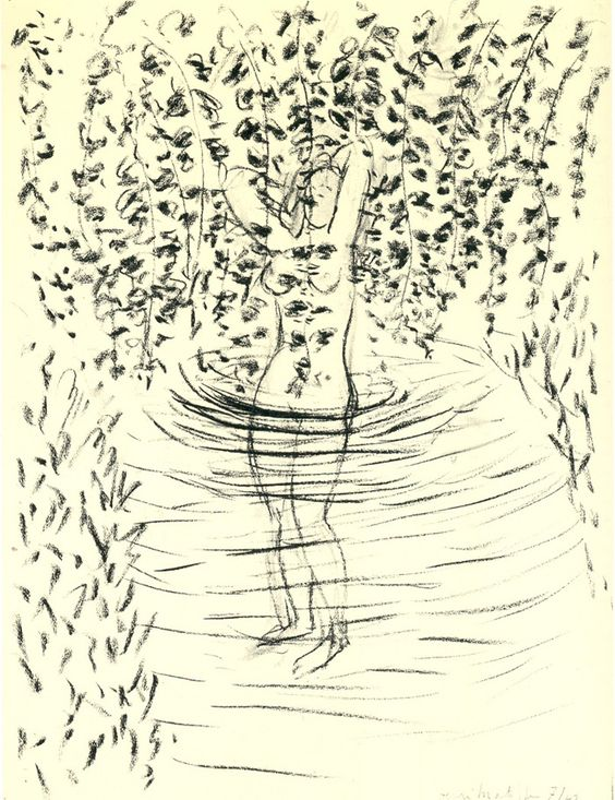 Bather with leaves by henri matisse charcoal on paper 52 for Design your own bathers