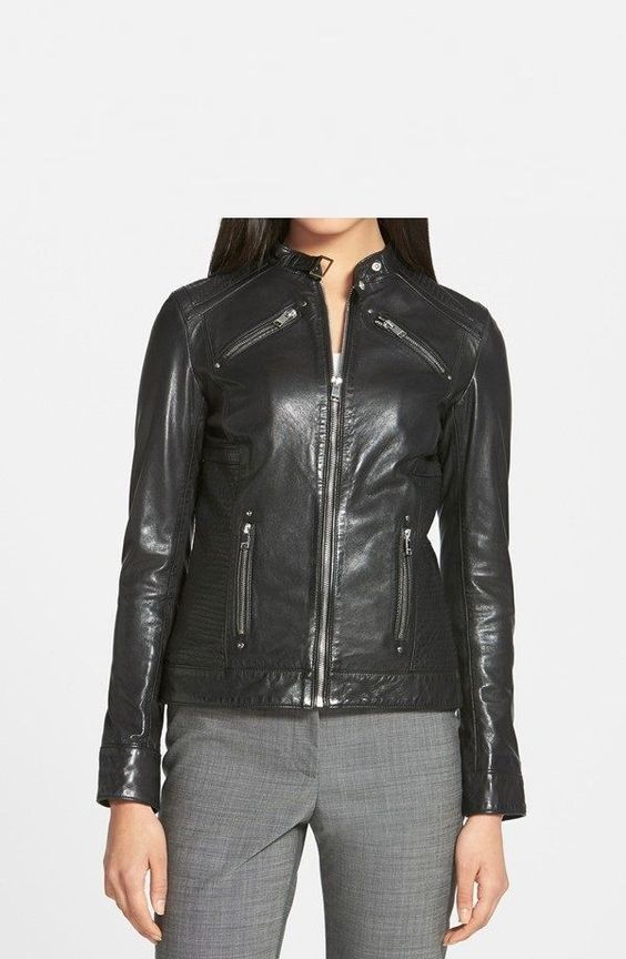 Details about Black Friday Womens Black Soft Genuine Lambskin ...