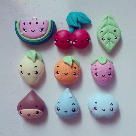 Image result for Hard dry clay fruit kawaii