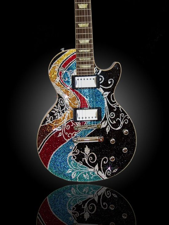 Les paul precious rebels psychedelic #Guitar http://ozmusicreviews.com/christmas-gifts-for-guitarists: