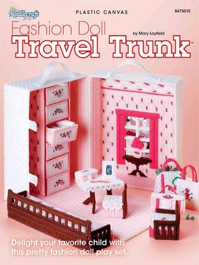 Fashion doll travel trunk for girls