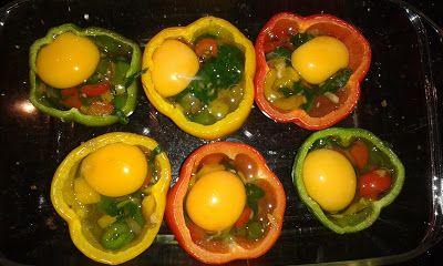 Wessels Küchenwelt: Paprika gefüllt mit Spinat und Ei