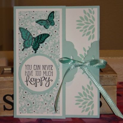 """Stampin' Up! Sweet Sorbet DSP, """"Petal Parade"""", Yippee-Skippee!"""", """"Papillon Potpourri"""" stamp sets and Scalloped Tag Topper and Elegant Butterfly punches"""