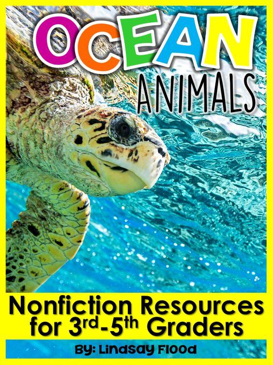Nonfiction Close Reading Ocean Animals 3rd5th Grade