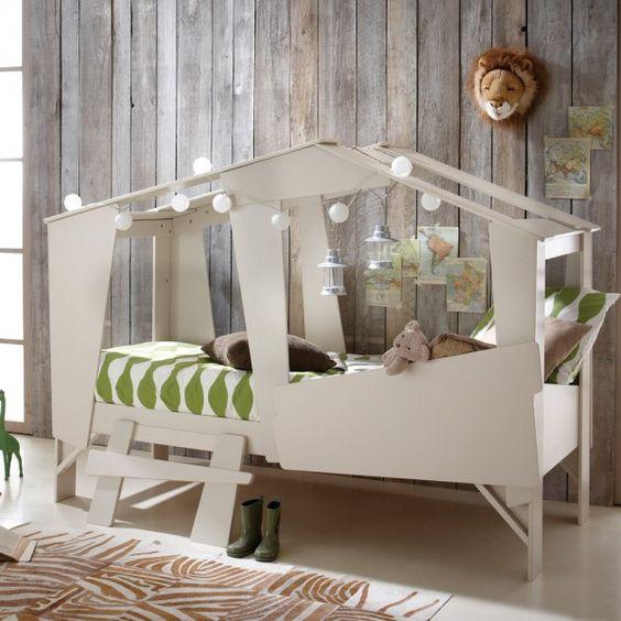 cama cabaña safari  600x600 Una original cama cabaña para niños