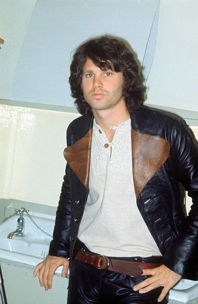 Jim Morrison, lead singer and songwriter of The Doors. After struggling with drugs and alcohol for some time, Morrison died of presumed heart failure on July 3, 1971.