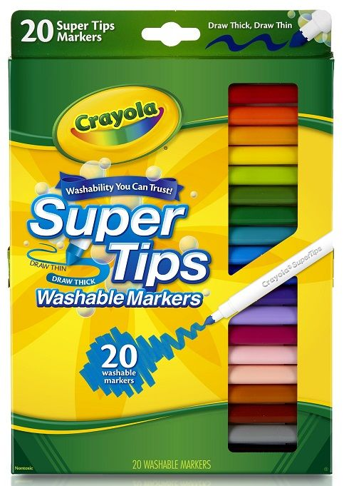 Crayola Super Tips Fine Line Washable Markers 20 Count At Walmart