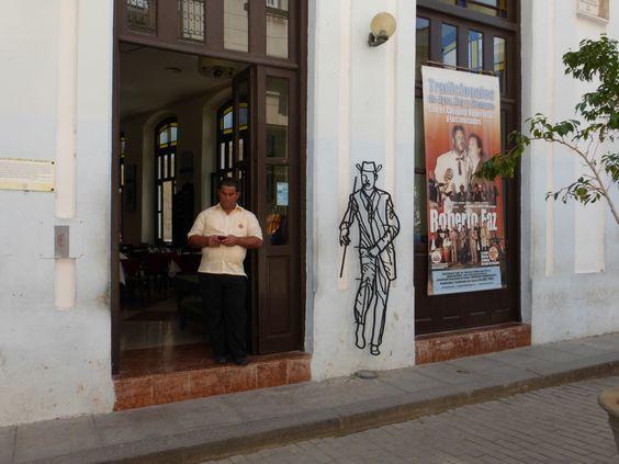 Man in doorway Havana, Cuba