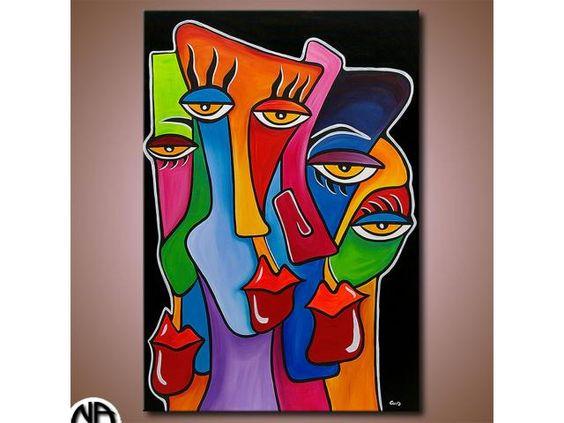 original gem lde acryl leinwand abstrakt art malerei. Black Bedroom Furniture Sets. Home Design Ideas