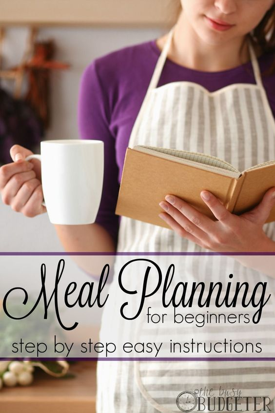 Meal planning for beginners. Easy step by step directions. Yes!!!! This is exactly what i was looking for. Simple., easy and impossible to mess up.: