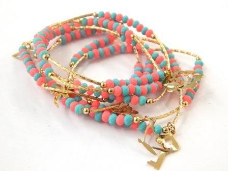Semanario encanto ♥ de perlas CHAPA DE ORO. Precio con descuento $ 100 MXP. Variedad de colores ♥