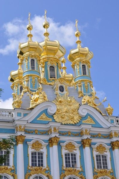 Catherine Palace - the summer residence of the Russian tsars, Tsarskoye Selo St. Petersburg, Russia ~ http://VIPsAccess.com/luxury-hotels-rome.html WOW! Holy Moly!! This is a CASTLE!