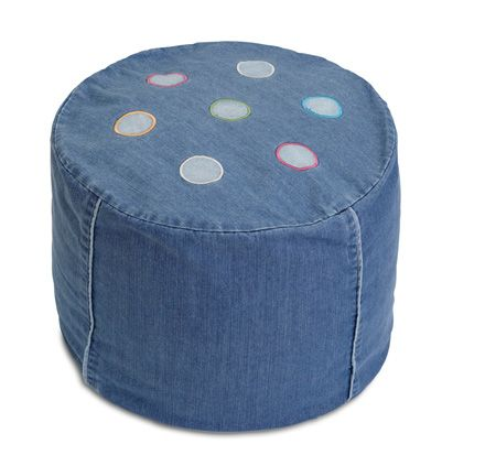 Denim Ottoman  from cocooncouture.com