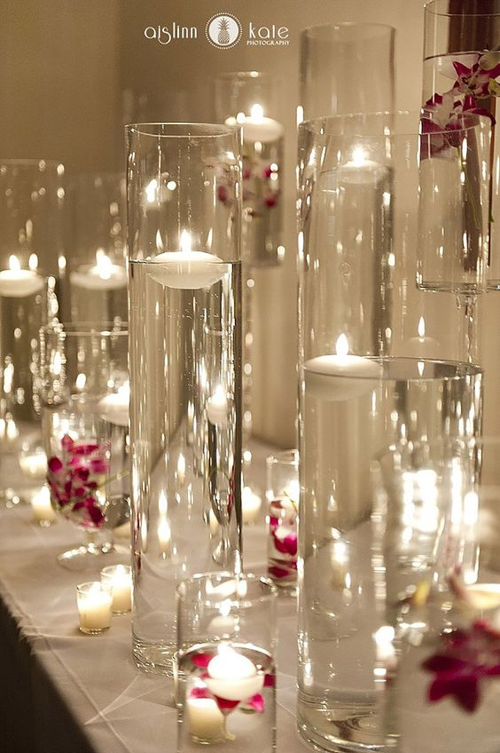 Candles wedding and beautiful on pinterest