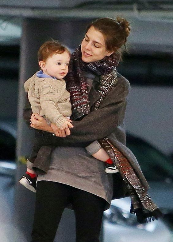 beautifulcharlotte:  Charlotte Casiraghi and son Räphael in Los Angeles, March 2015