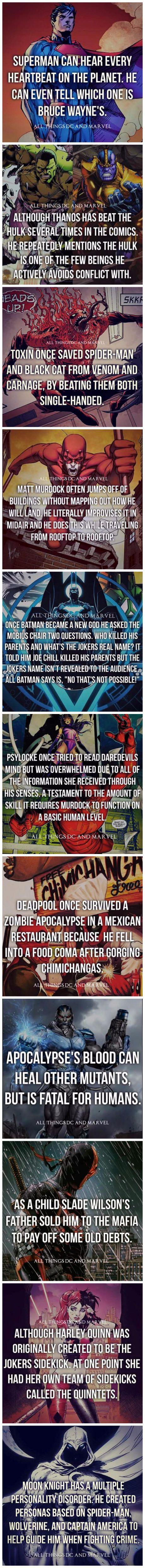 Superhero Facts! I feel so ill fully informed! I knew none of this! #SonGokuKakarot