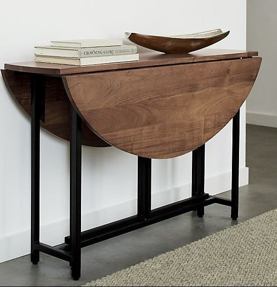 Origami Drop Leaf Oval Dining Table Reviews Crate And Barrel Oval Table Dining Dining Room Console Dining Table Small Space
