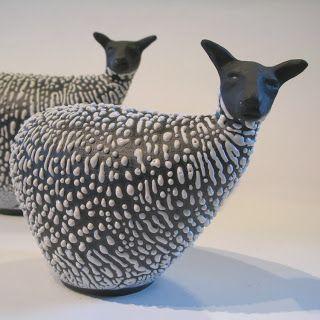 Ceramic sheep  |  Artist:  Cecilia Boivie  |  http://ceciliaboivie.blogspot.fr/