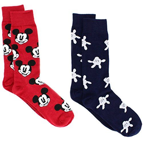 Mickey Mouse Teen Adult Mens 2 pack Crew Socks #FunStartsHere #Everyday #WaltDisney #Disney #MickeyMouseClubhouse www.yankeetoybox.com G