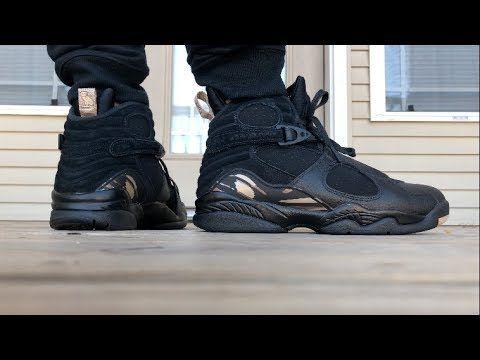Jordan 8 OVO ON FOOT LOOK! | Nike air