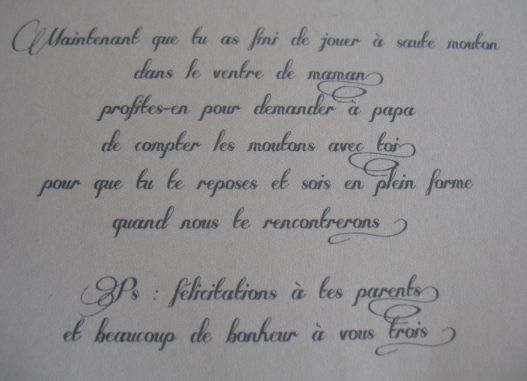 Une Carte De Naissance Pour Un Petit Garçon Texte