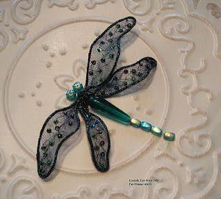 "dragonfly tutorial using Kreinik ""Hot Wire"" by Pat Winter"