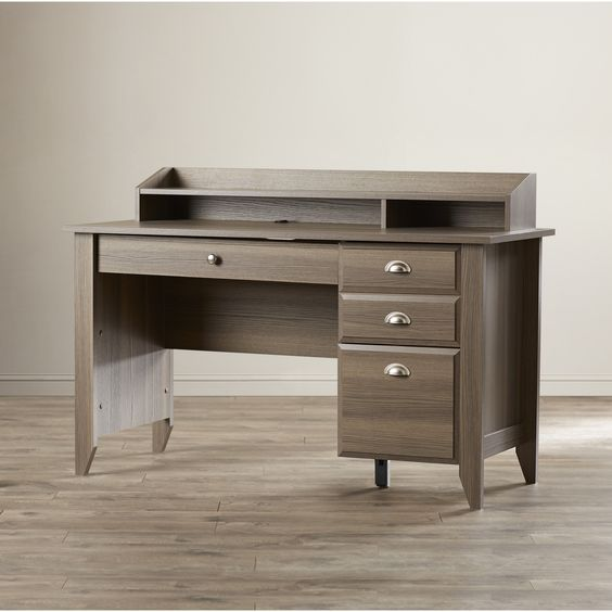 Andover Mills Revere 3 Drawer Computer Desk & Reviews   Wayfair